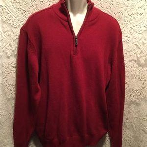 (Oscar de la Renta) size XL 1/4 zip-up Red